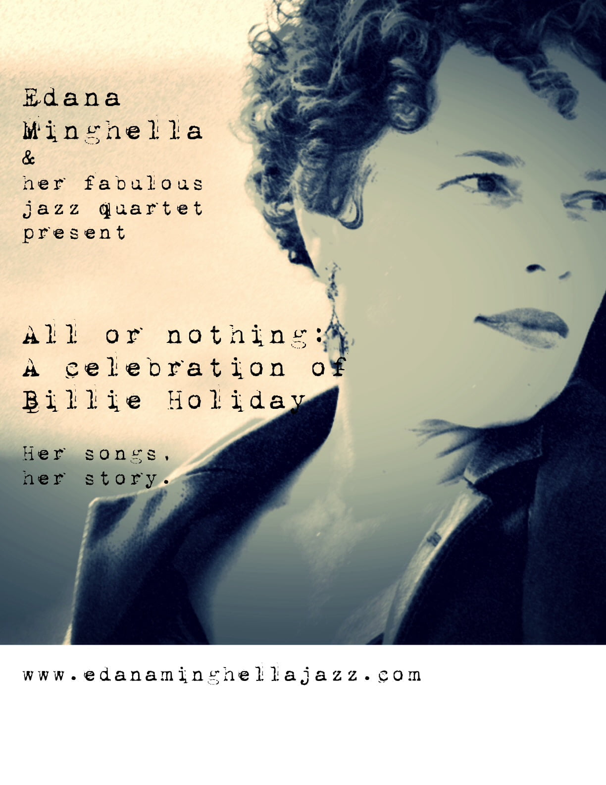All or Nothing: Edana Minghella Quartet celebrates Billie Holiday