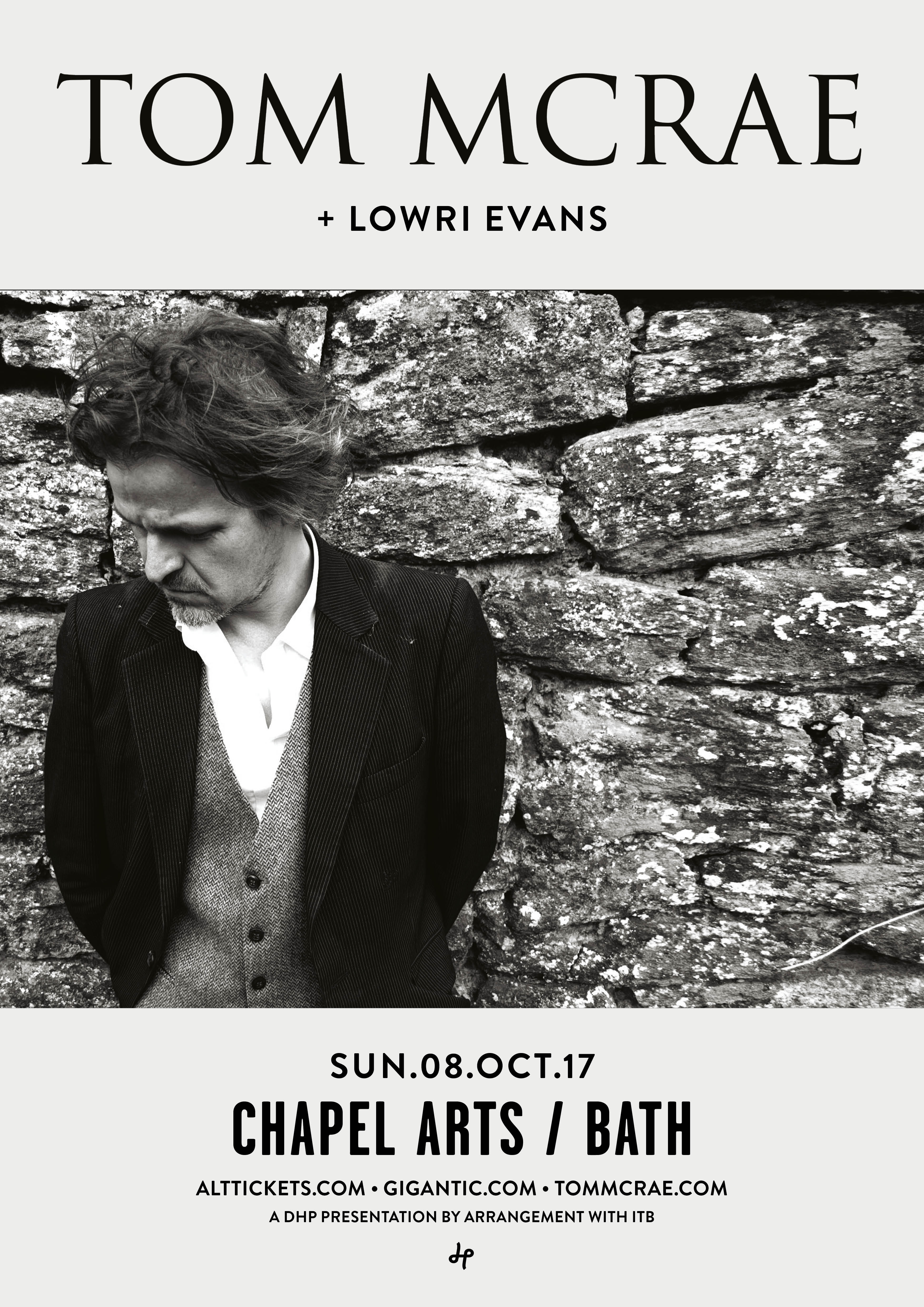 Tom McRae plus support, Lowri Evans