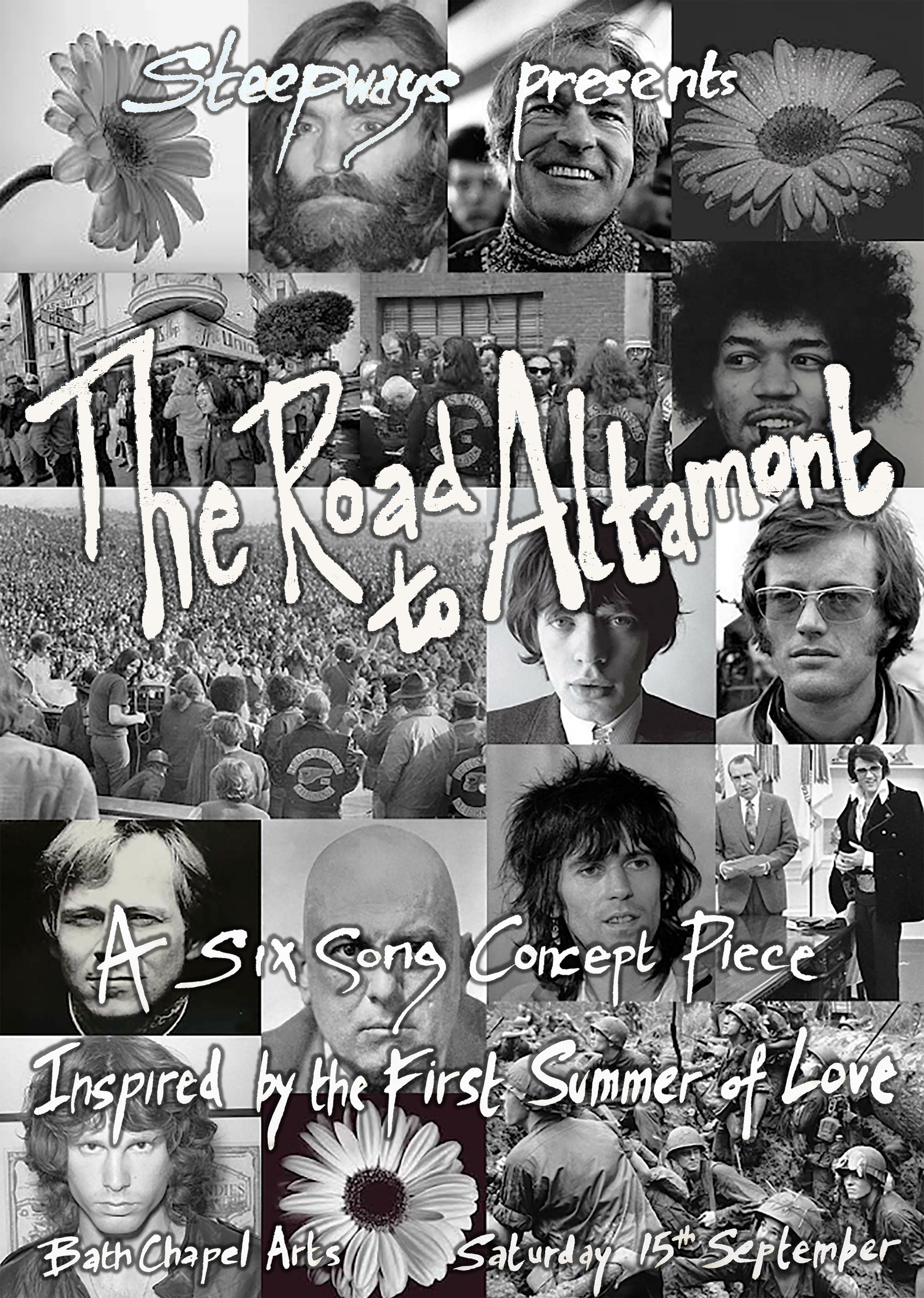 Steepways present 'The Road to Altamont' plus support, Pete Greenwood